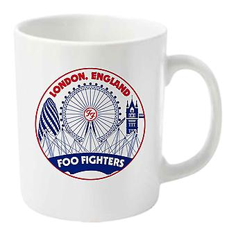 Foo Fighters Mug Skyline Band Logo new Official White