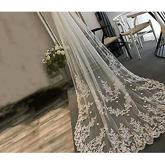 Long Lace Edge Bridal Veil