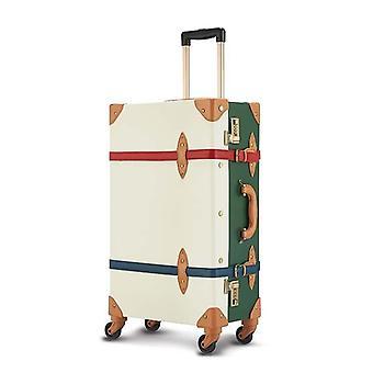 Retro Pu nahka liikkuva matkalaukku asettaa matkalaukku pyörävaunu käsilaukku