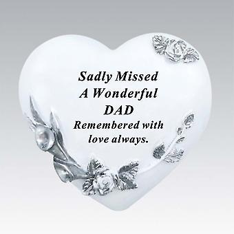David Fischhoff Floral Heart - Dad