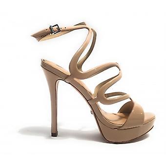 Shoes Women's Schutz Sandal tc 10 Pl 25 Skin Color Powder Paint Ds17sc02