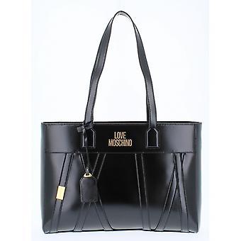 Laukku Nainen Rakkaus Moschino Shopping Faux nahka Väri Musta B21mo132