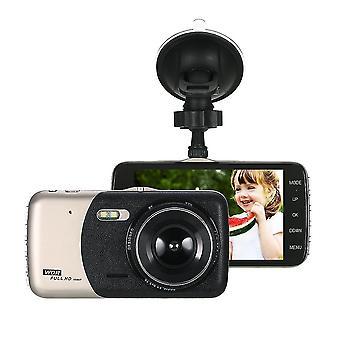 4'quot; Двойной объектив 1080p HD автомобиль DVR тире камеры видеокамеры