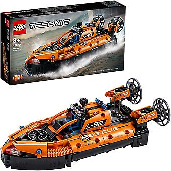 LEGO 42120 Technic Rescue Hovercraft to Aircraft Toy, 2 in 1 Model, Building Set for Boys and Girls
