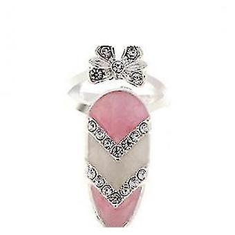 Womens Bowknot Beautiful Charm Nail Ring Jewelry For Party