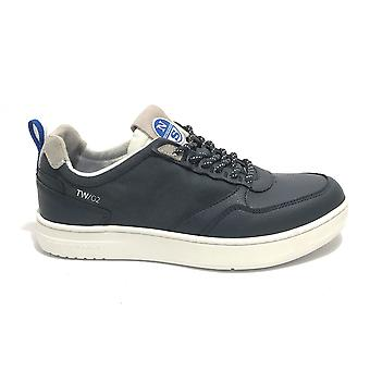 Shoes North Sails Sneaker Tw/02 Crew Leather/ Navy Blue Fabric Us21ns04