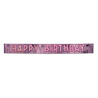 Banner metálico feliz cumpleaños (paquete de 6) - 57306