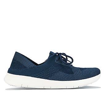 Women's Fit Flop Marbleknit Sneakers i blått