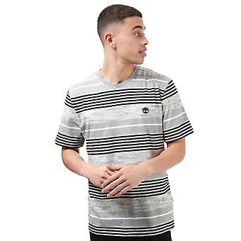 Menn's Timberland Konstruert Crew Stripe T-skjorte i grått