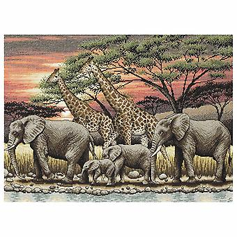 Anchor Counted Cross Stitch Kit: Maia Collection: African Sunset