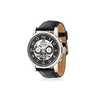 Watch Chronowatch 'apos;Camara'apos; Automatic Grey Leather Bracelet - HA5310Cg2BCt