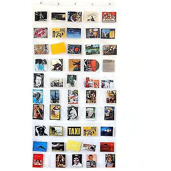 FengChun HAB GUT -DV008- Fotovorhang, transparenter Taschenvorhang mit 50 Taschen,fr Hoch- und