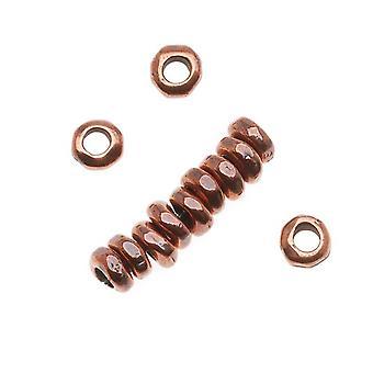 Metal Spacer Bead, Nugget Heishe 5mm, 12 stykker, antikke kobber belagt, af TierraCast