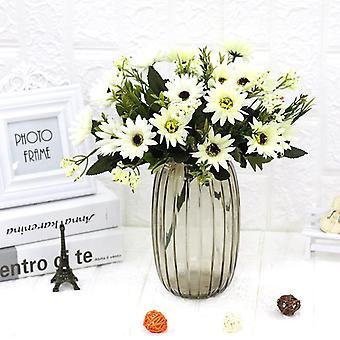 5Pcs زهرة اصطناعية الأقحوان عباد الشمس المجفف زهرة هدية زهرة وهمية للنساء
