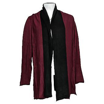 Laurie sintió suéter de mujer dos cardigan de mezcla de cachemira tonificado rojo A343606