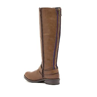 Madden Girl Womens fayettee Fabric Almond Toe Knee High Fashion Boots