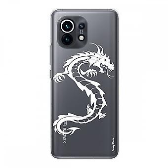 Hülle für Xiaomi Mi 11 Weich Silikon 1 Mm, Weißer Drache