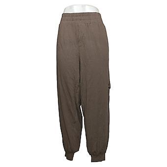 Alle kvinders bukser hyggeligt strik Cargo Jogger Bukser m / Lommer Brown A310051