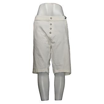 DG2 af Diane Gilman Kvinders Shorts Petite Bermuda White 742917