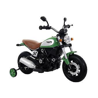 Moteur électrique pour enfants avec roues latérales - vert/noir