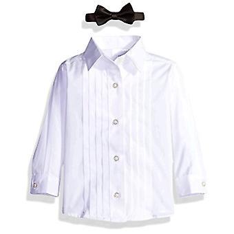 नौटिका बेबी ब्वॉय के टक्सीडो सेट के साथ जैकेट, पैंट, शर्ट, और धनुष टाई, ब्लैक, 12M
