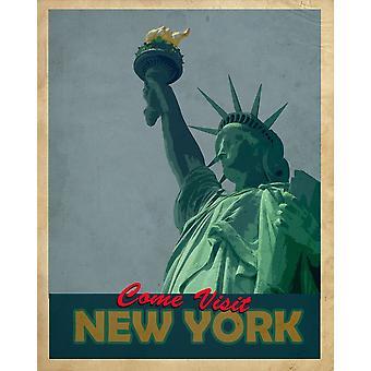 Vintage Metal Znak Retro Reklama Nowy Jork