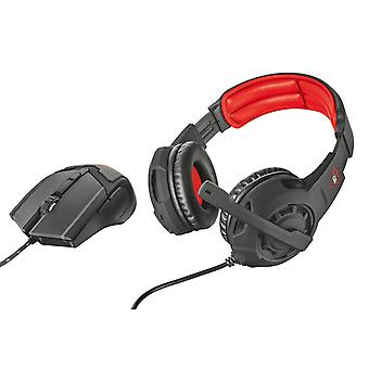 Trust GXT 784 Head-band Black and Red headset