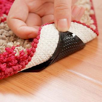 4 PCs alfombra alfombra pinzas antideslizantes reutilizables almohadillas de agarre de silicona reutilizables