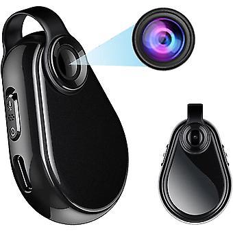 Mini Full HD 1080P versteckte Kamera, kleine tragbare Überwachungskamera, kompakte Nanny-Kamera mit Audio- und Video-Loop-Aufnahme, geeignet für Home Car Security Camera-32GB (Schwarz)