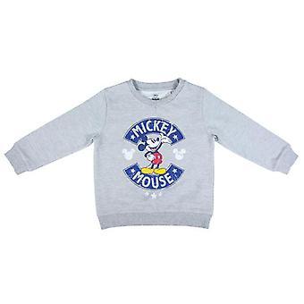 Sudadera para niños sin capucha Mickey Mouse Grey