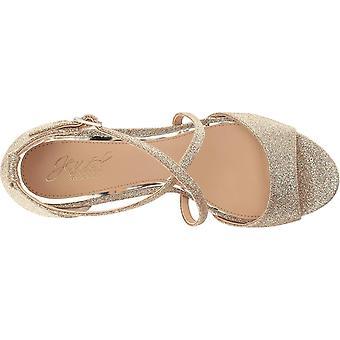 BADGLEY MISCHKA Womens Averie Fabric Open Toe Casual Platform Sandals