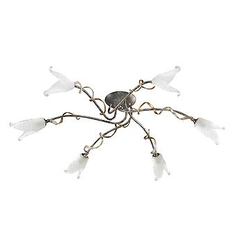 Elstead Lighting Fly 6 Arm Semi-Flush Ceiling Light