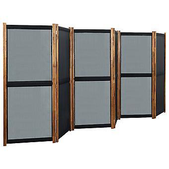vidaXL 6 pcs. Room divider black 420x170 cm