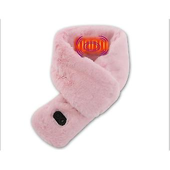Fever Heating Massage Scarf Men And Women Winter New Warm Usb Charging(Pink)