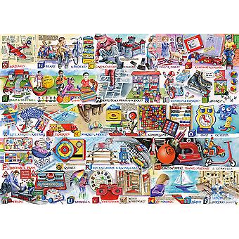 Gibsons Jigsaw Puzzle Space Hoppers & Scooters 1000 Pieces