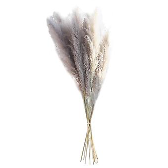 Hot 60cm big reed pampas grass large reeds office 15pcs fluffy without shedding artificial flowers home vase wedding decor