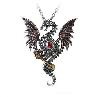 Alchemy Gothic hoogoven Behemoth Steampunk Dragon Necklace