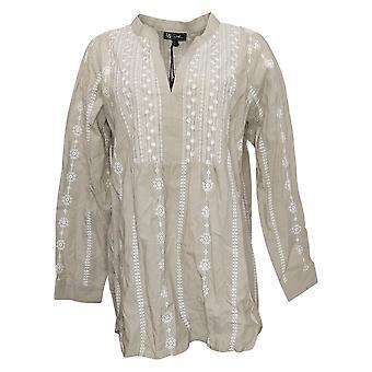 DG2 von Diane Gilman Damen Top Floral Long Sleeve Green 741043