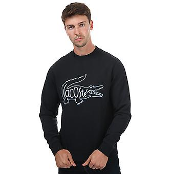 Heren Lacoste Geborduurd Krokodil Sweatshirt in Blauw