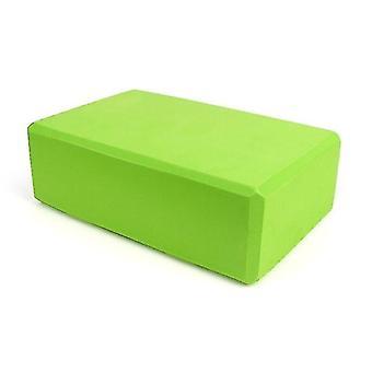 Yoga pilates blocks yoga block foam brick for stretching aid  gym  pilates  yoga etc. Green