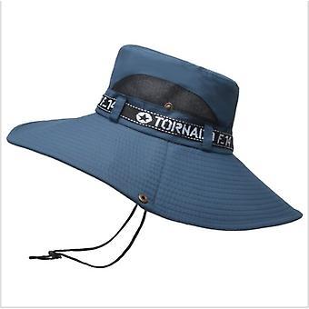 Wide Brim Fishing Hat Summer Spring Men's Bucket Hats Randonnée Sombrero Gorro Male Sun Hat Voyage en plein air Safari Bucket Hat