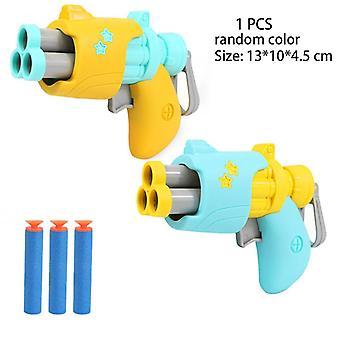 Barn Pistol Pistol Leksaker Skum Mjuk Bullet Revolver Plast