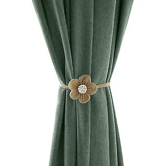 2pcs Knitted Curtain Holders Decorative Tiebacks Curtain Binder Accessories