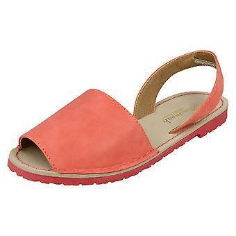 Dames Savannah platte Slingback sandalen