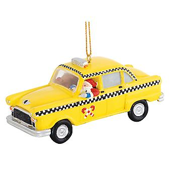 New York City Yellow Cab Santa Claus Cabbie Driver Christmas Holiday Ornament