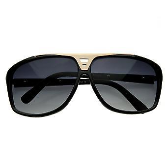 Diseñador inspirado cuadrada plana Top gafas de sol de aviador