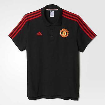 ADIDAS Manchester United klassiska 3S Polo [svart]