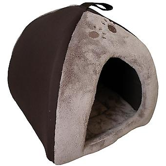Agrobiothers Brown Tipi For Cat  Sweet Home (Cats , Bedding , Beds)