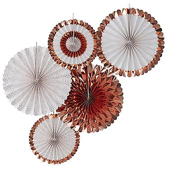 Rose Gold Foiled Spotty Room Party Decorations x 5  Rose Gold Hen Party