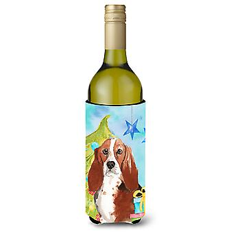 Árbol de Navidad Basset Hound botella de vino Beverge aislador Hugger